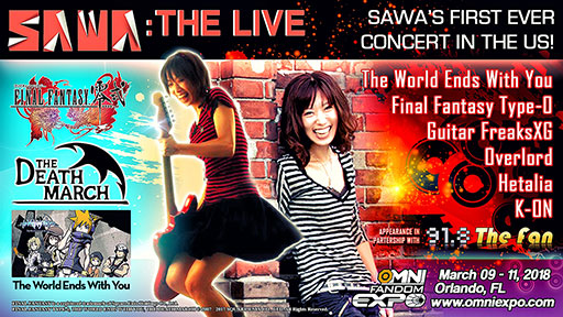 OMNI FANDOM EXPO 2018 - SAWA - THE LIVE - FIRST EVER LIVE US CONCERT